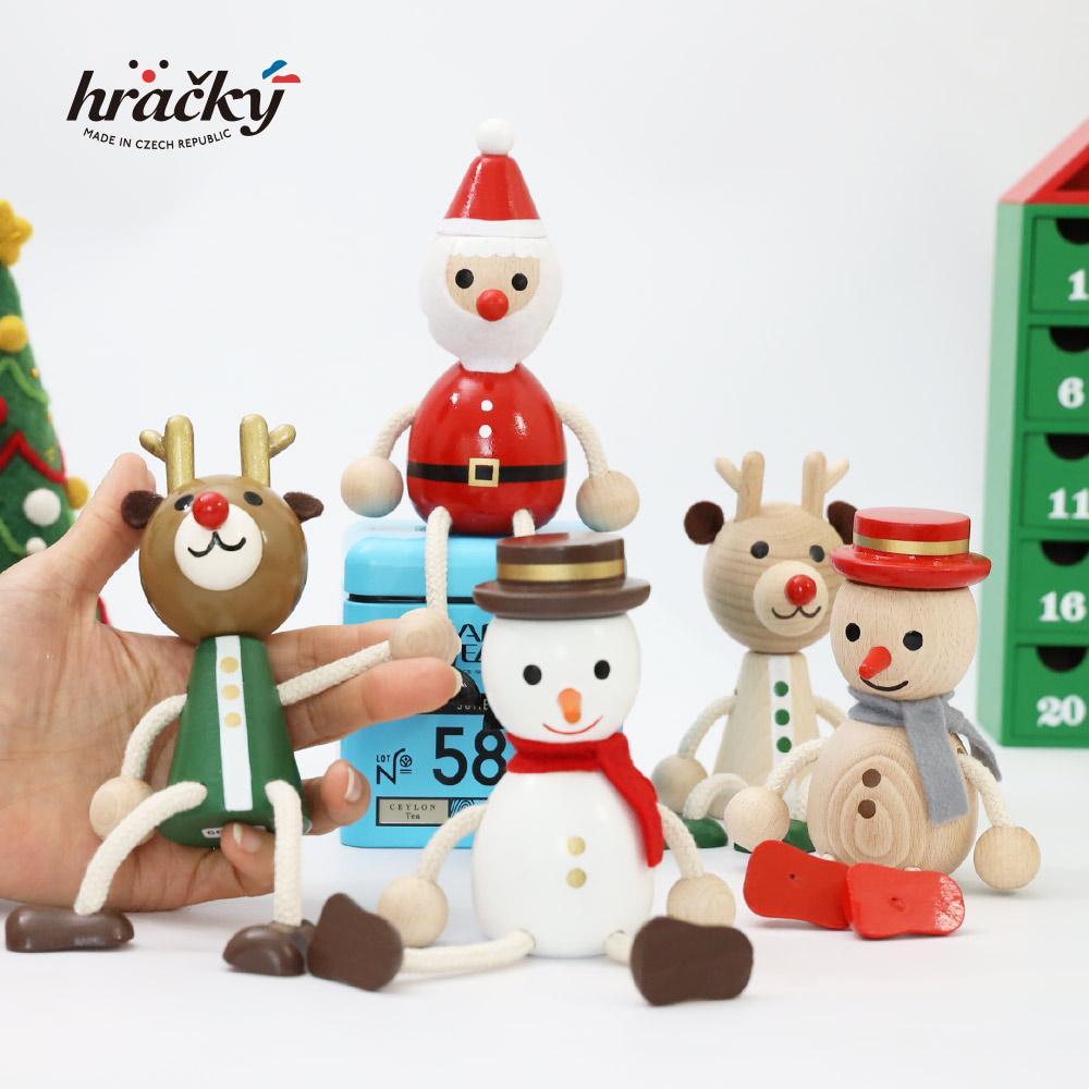 送料無料 【正規品】ハラチキ Hracky チェコ産  木の人形 5点セット