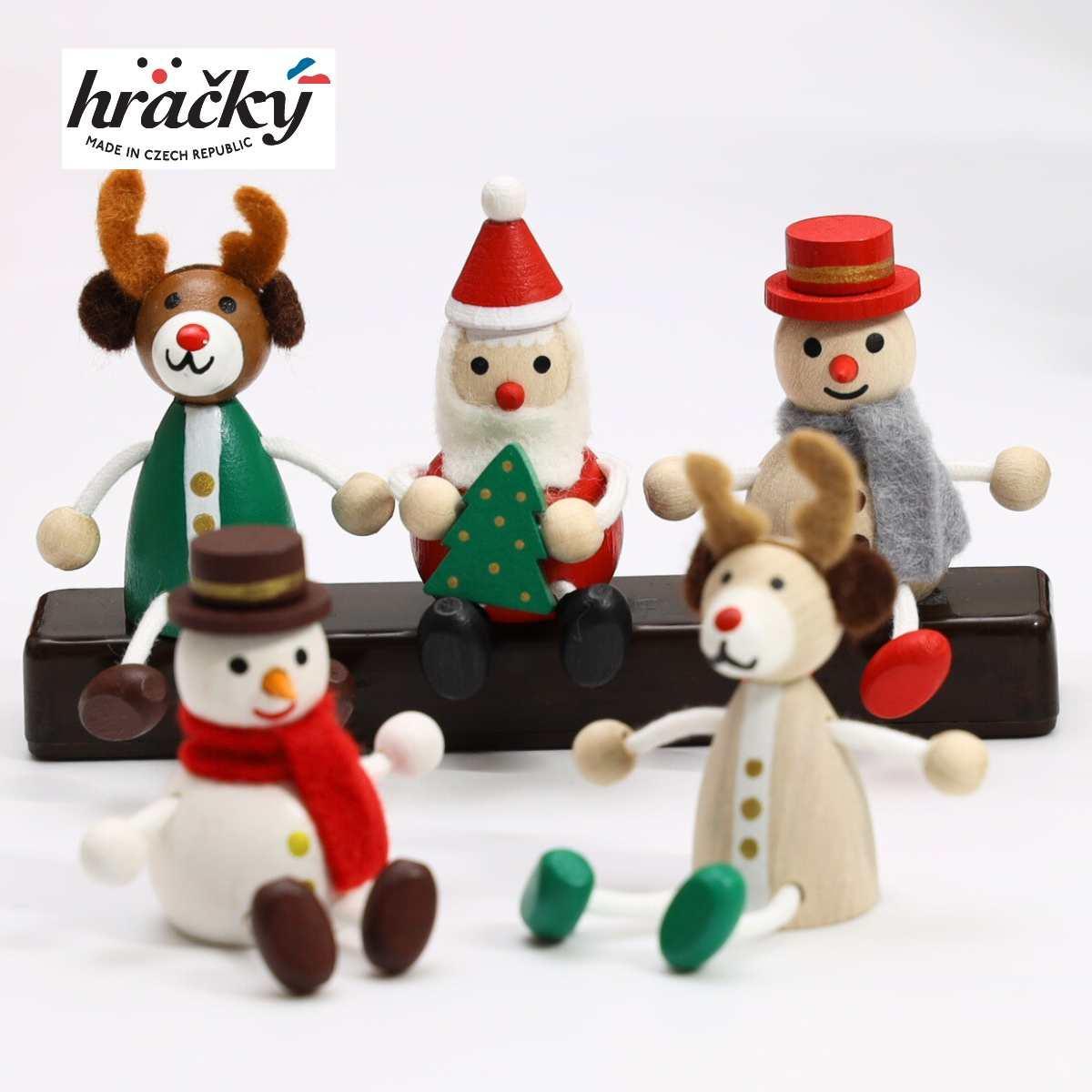 レスニー ハラチキ Hracky チェコ産 木製人形 5点セット